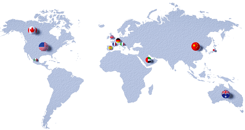 JETech shipping map