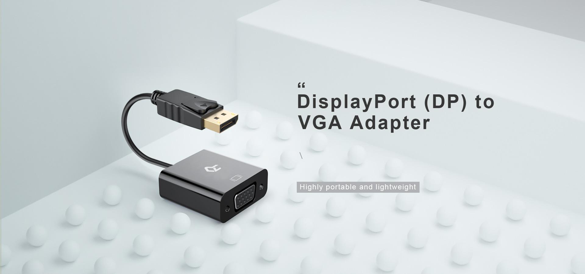 DisplayPort (DP) to VGA Adapter